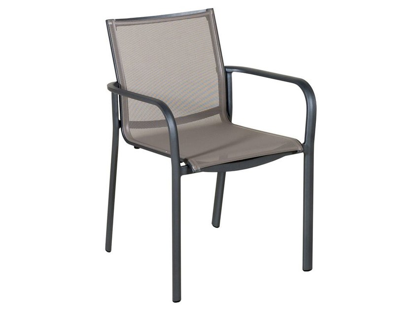 Batyline® garden chair with armrests HEGOA | Chair with armrests - Les jardins