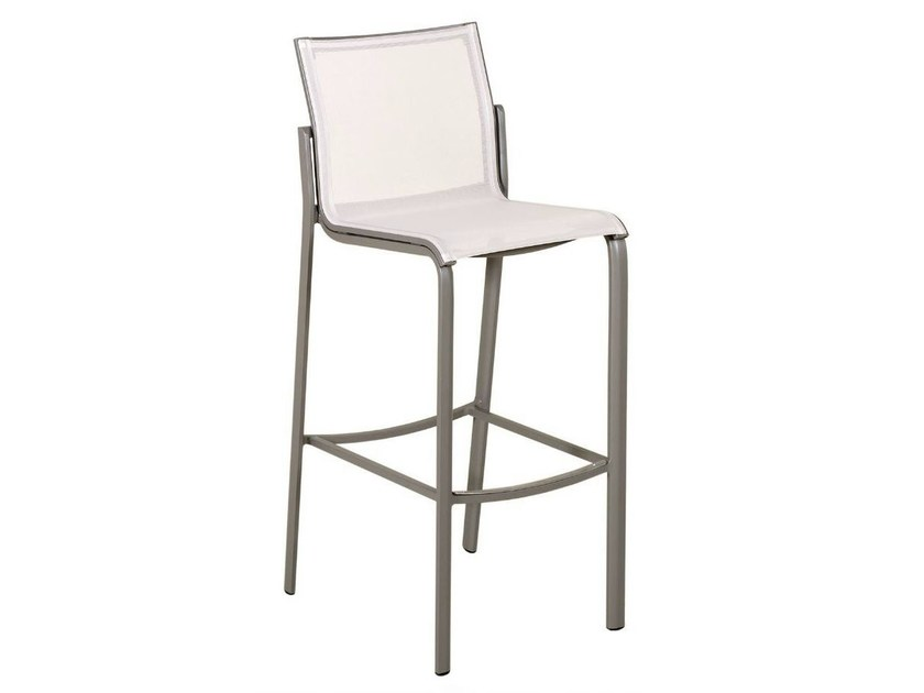 Batyline® counter stool with footrest HEGOA | Counter stool - Les jardins