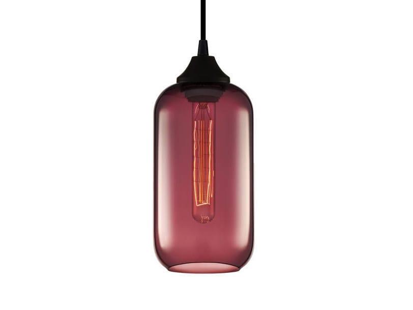 Lampada a sospensione a luce diretta fatta a mano in vetro soffiato HELIO PRISMA by Niche Modern