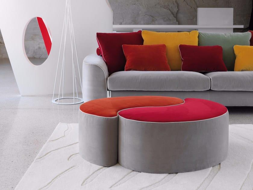 Upholstered velvet pouf HELLIS   Pouf by Borzalino