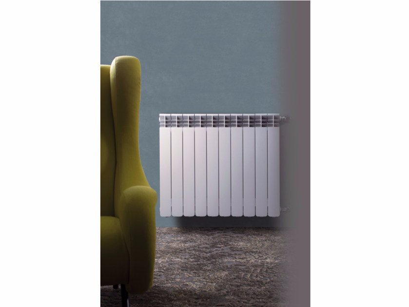 Hot-water wall-mounted die cast aluminium decorative radiator HELYOS - Radiatori2000