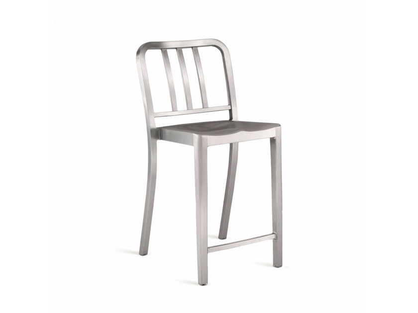 Stackable aluminium counter stool HERITAGE | Counter stool - Emeco