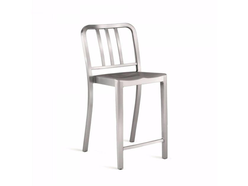 Sedia alta impilabile in alluminio HERITAGE | Sedia alta - Emeco