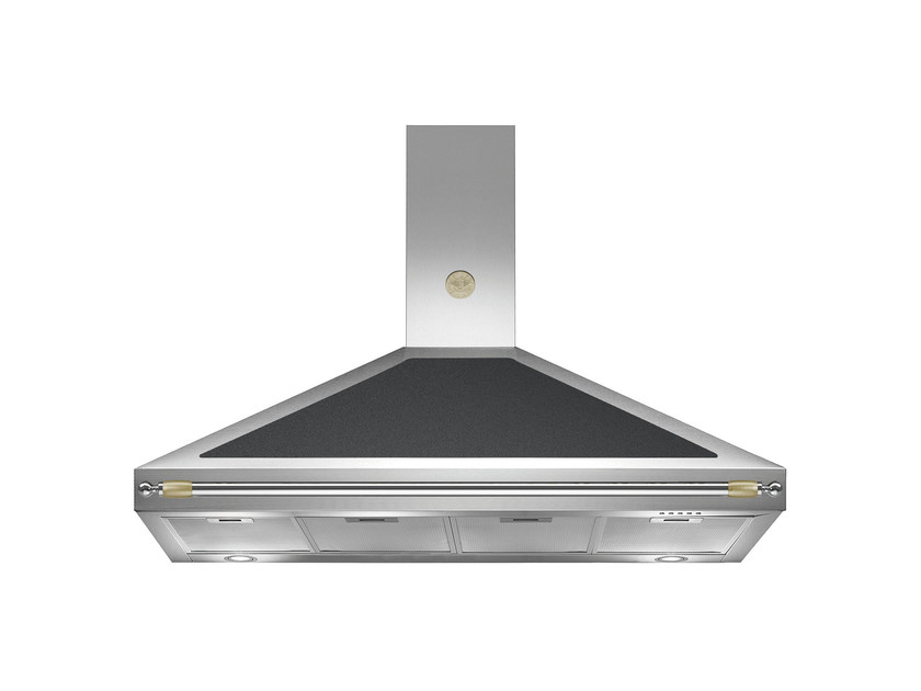 Wall-mounted cooker hood with integrated lighting HERITAGE - K120 HER by Bertazzoni