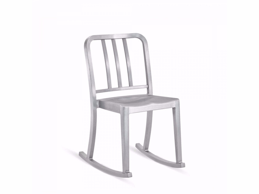 Rocking aluminium chair HERITAGE | Rocking chair - Emeco