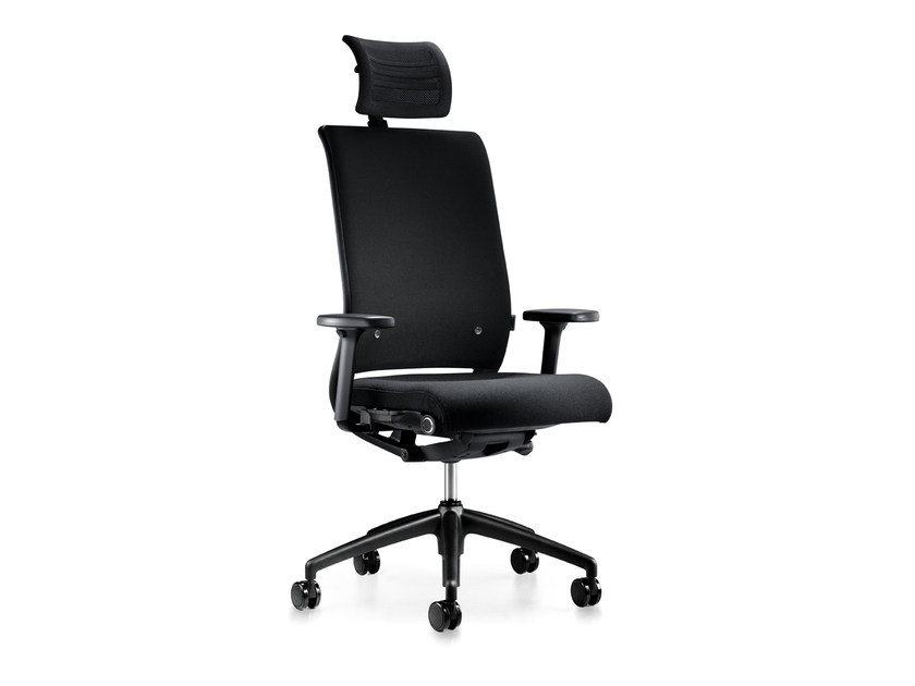 Height-adjustable swivel fabric executive chair with casters HERO 265H by Interstuhl