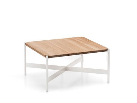 Low square Accoya® wood garden side table HERON | Accoya® wood coffee table - Paola Lenti