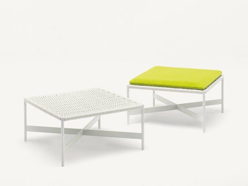 Low fabric garden stool HERON | Low stool - Paola Lenti