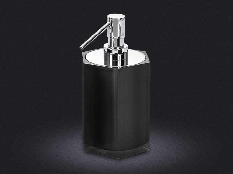 Resin liquid soap dispenser HEXA | Liquid soap dispenser - Vallvé Bathroom Boutique