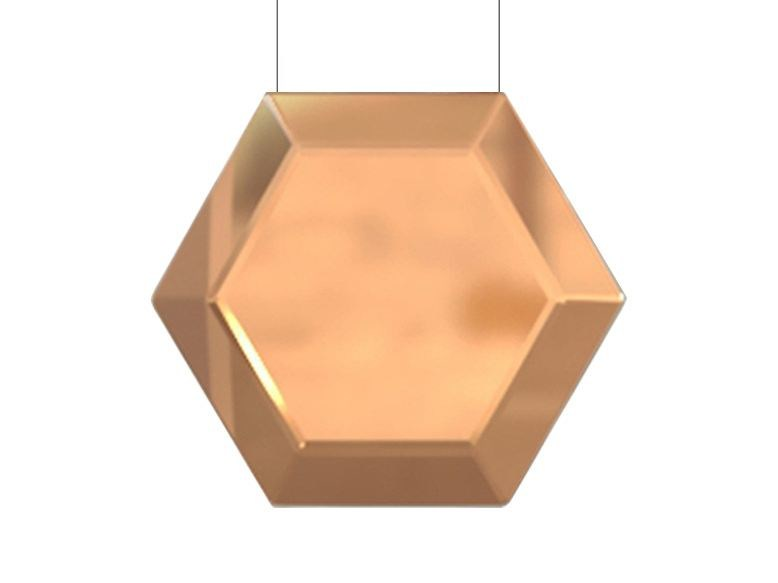LED brass pendant lamp HEXAN | Brass pendant lamp by Inarchi