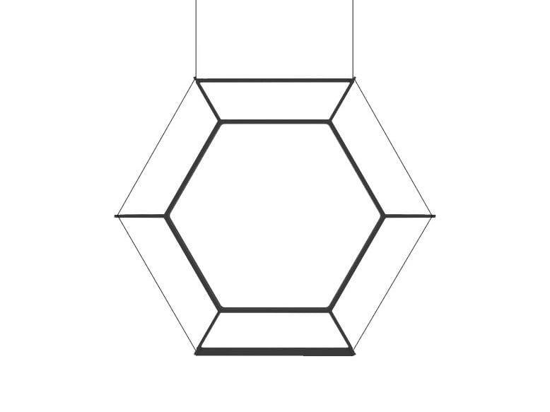 LED steel pendant lamp HEXAN | Steel pendant lamp by Inarchi
