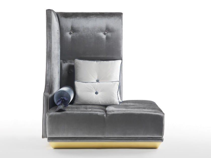 High-back velvet armchair CAESAR | High-back armchair by ELLEDUE ARREDAMENTI