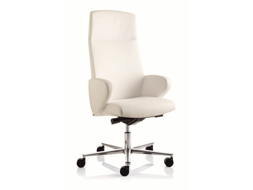 Executive chair with 5-spoke base with armrests FORMAT | High-back executive chair - Emmegi