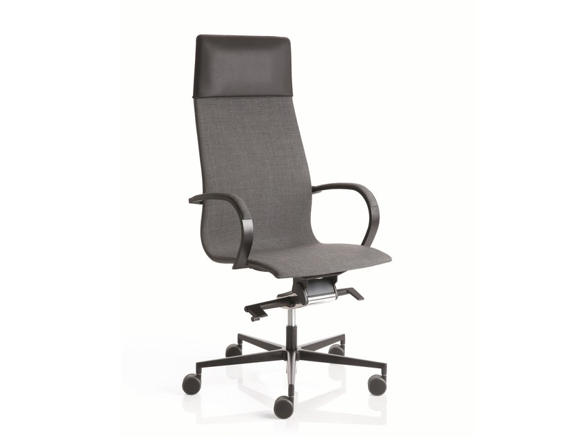 Swivel high-back executive chair with 5-spoke base EM204 | High-back executive chair - Emmegi