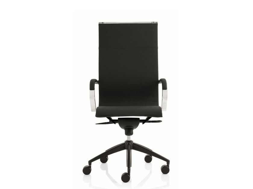High-back executive chair with 5-spoke base with armrests EM202 LIGHT | High-back executive chair - Emmegi