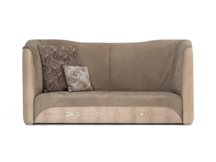 Upholstered 3 seater high-back leather sofa EMPIRE | High-back sofa - Formitalia Group