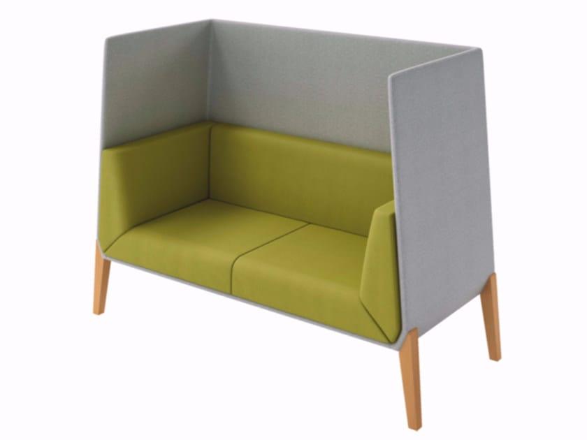 High-back leisure sofa ACCORD | High-back sofa - Quadrifoglio Sistemi d'Arredo