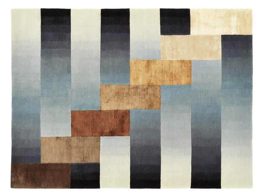 Handmade rectangular wool rug HIGH RISE - Deirdre Dyson