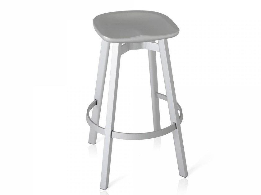 High stool with footrest SU | High stool - Emeco