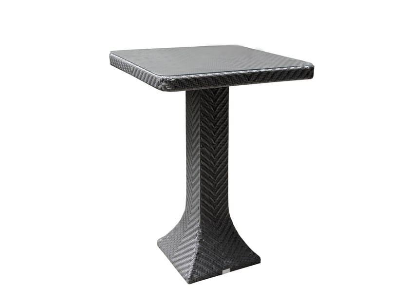 Tavolo alto da giardino quadrato DORIC | Tavolo alto - 7OCEANS DESIGNS