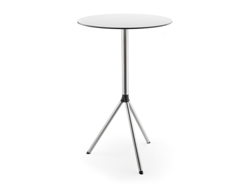 Drop-leaf round high table MOLLINARO | High table by rosconi