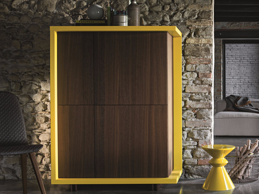 Oak highboard with doors FRAME | Highboard - Dall'Agnese
