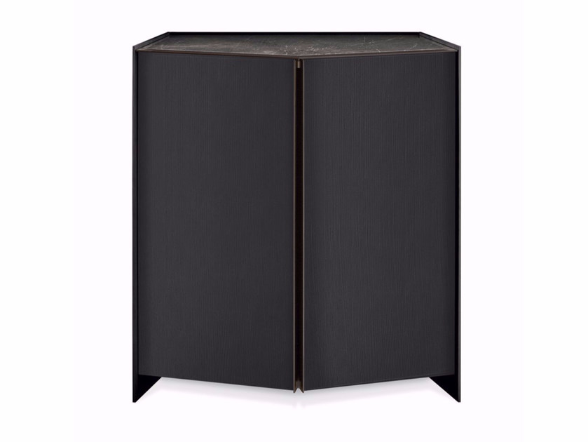 Wooden highboard with doors ATHUS | Highboard by Gallotti&Radice