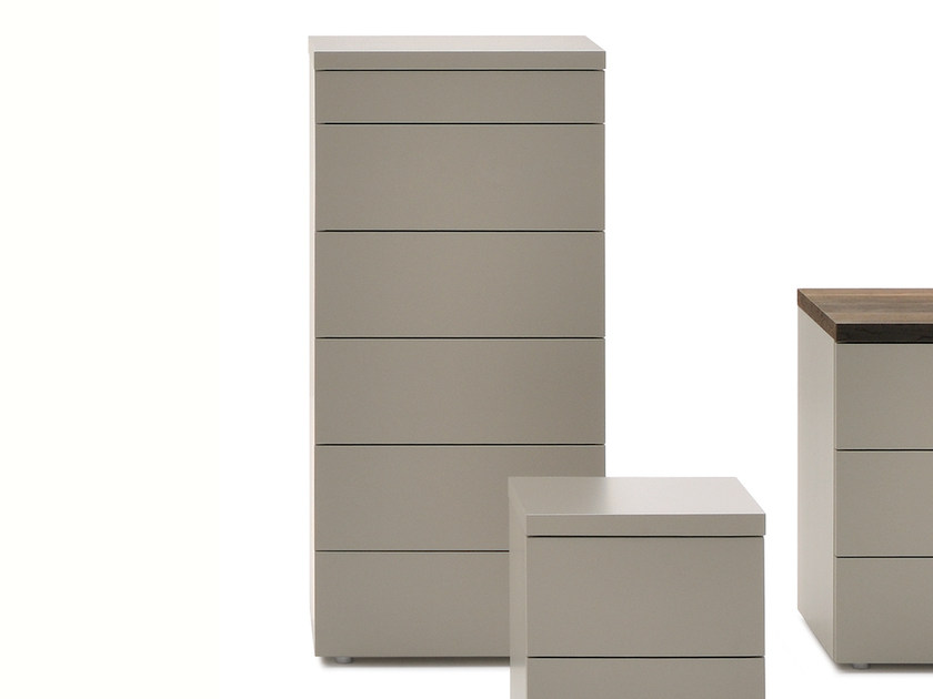 Free standing wooden chest of drawers HIRO | Chest of drawers - Silenia