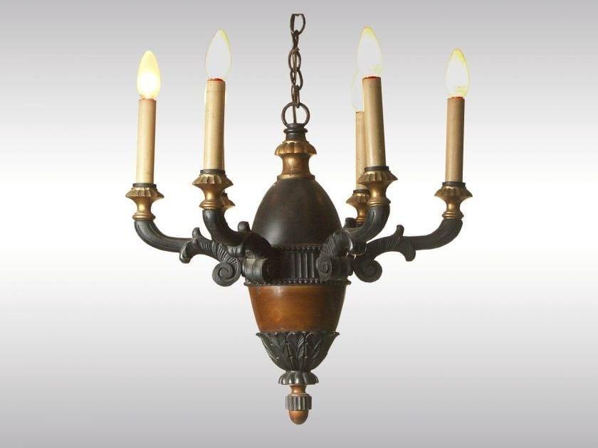 Classic style wooden chandelier HISTORISTISCHER HOLZLUSTER - Woka Lamps Vienna