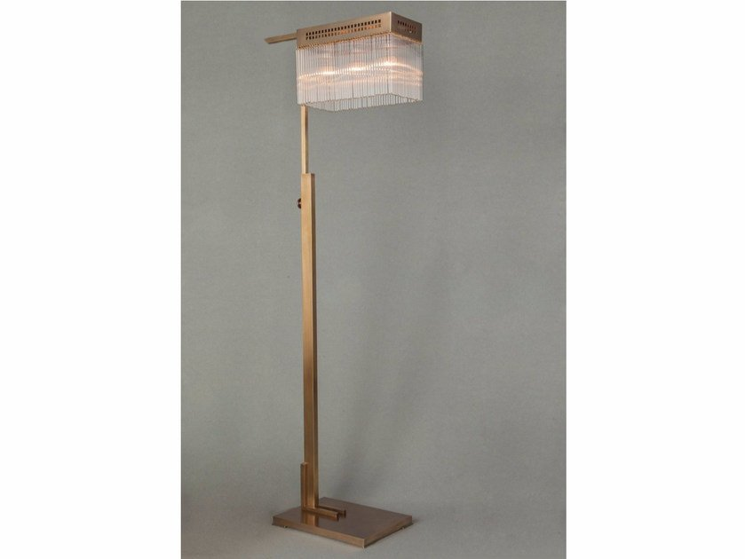 Direct light handmade brass floor lamp HOFFMANN | Floor lamp - Patinas Lighting