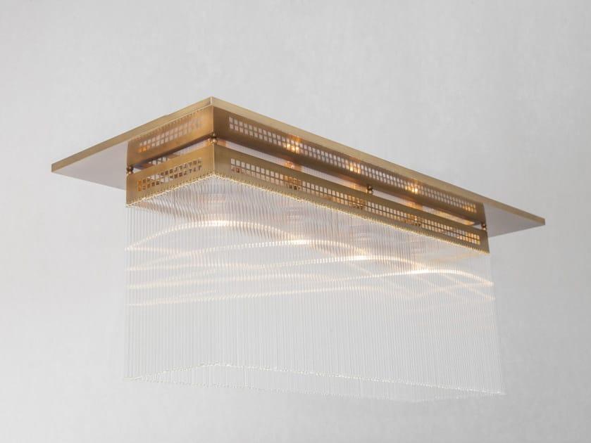 Direct light handmade brass ceiling lamp HOFFMANN II | Ceiling lamp - Patinas Lighting