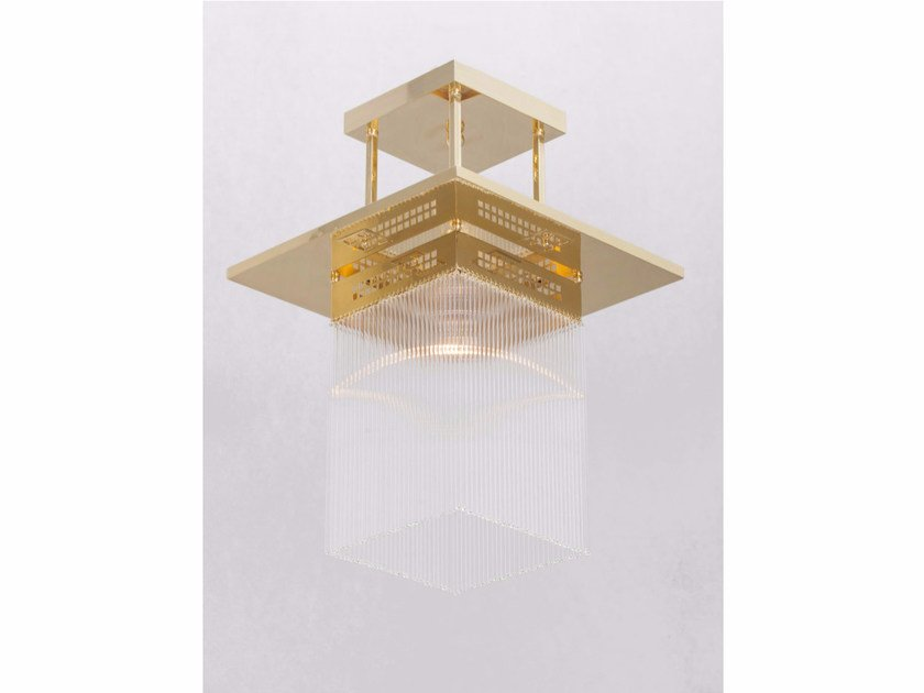 Direct light handmade brass chandelier HOFFMANN II | Pendant lamp by Patinas Lighting
