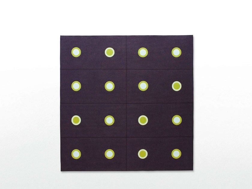 Square felt rug with geometric shapes HOOP | Square rug - Paola Lenti