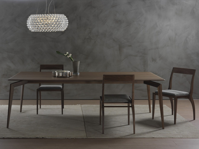 Rectangular solid wood table HOPE | Rectangular table by Pacini & Cappellini