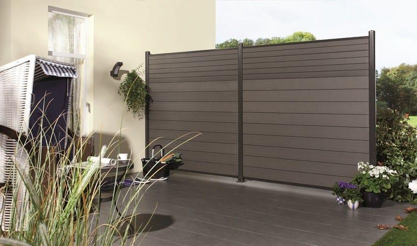 Schermo divisorio da giardino in wpc horizen composite for Divisori da giardino in plastica