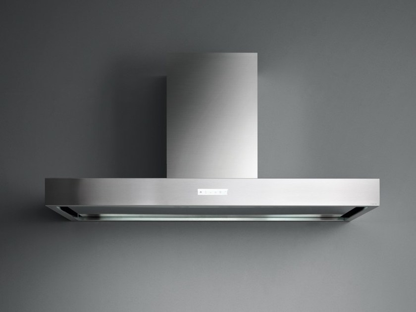 Stainless steel island hood with activated carbon filters HORIZON NRS - Falmec