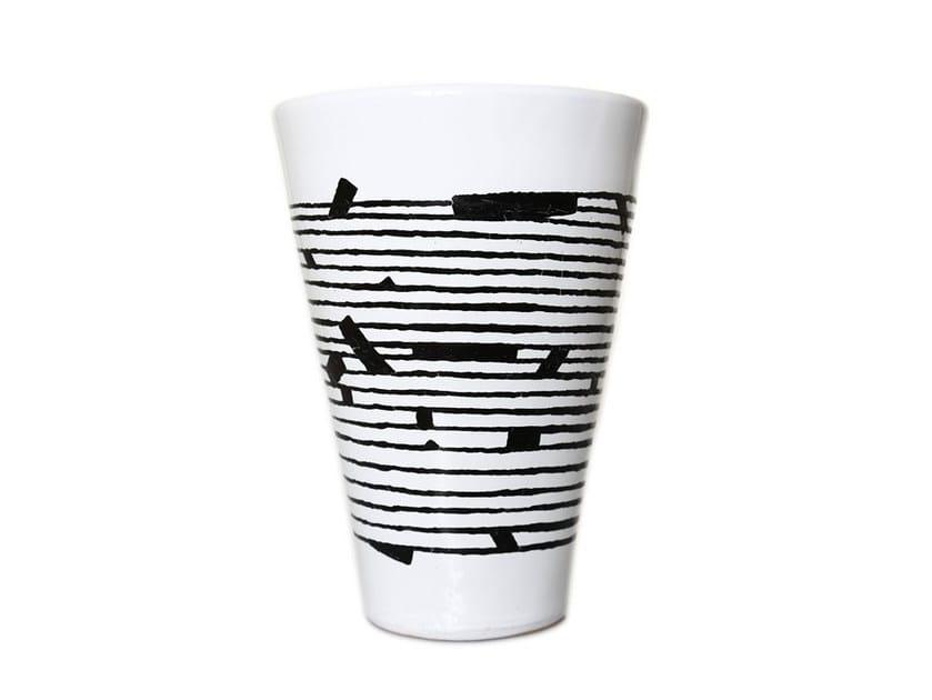 Ceramic vase HORIZONTAL III - Kiasmo