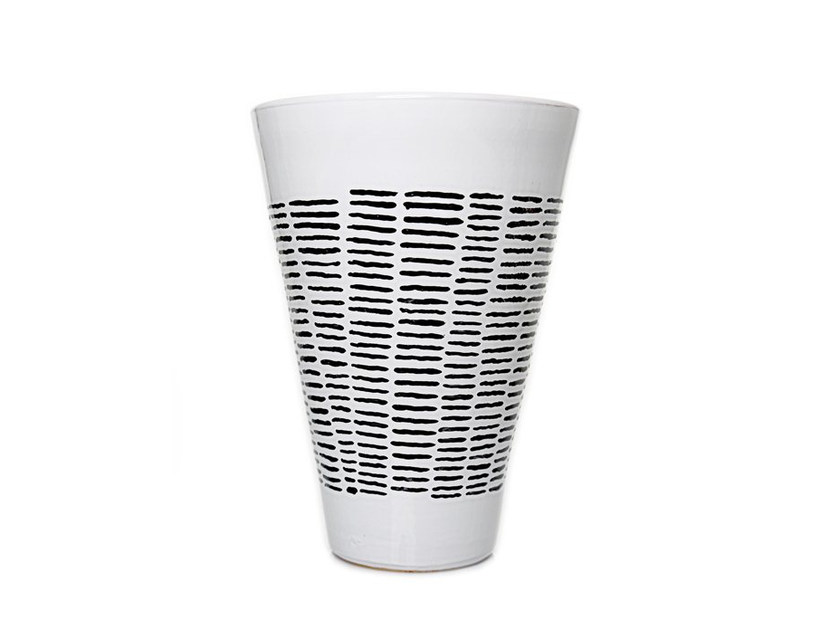 Ceramic vase HORIZONTAL IV - Kiasmo
