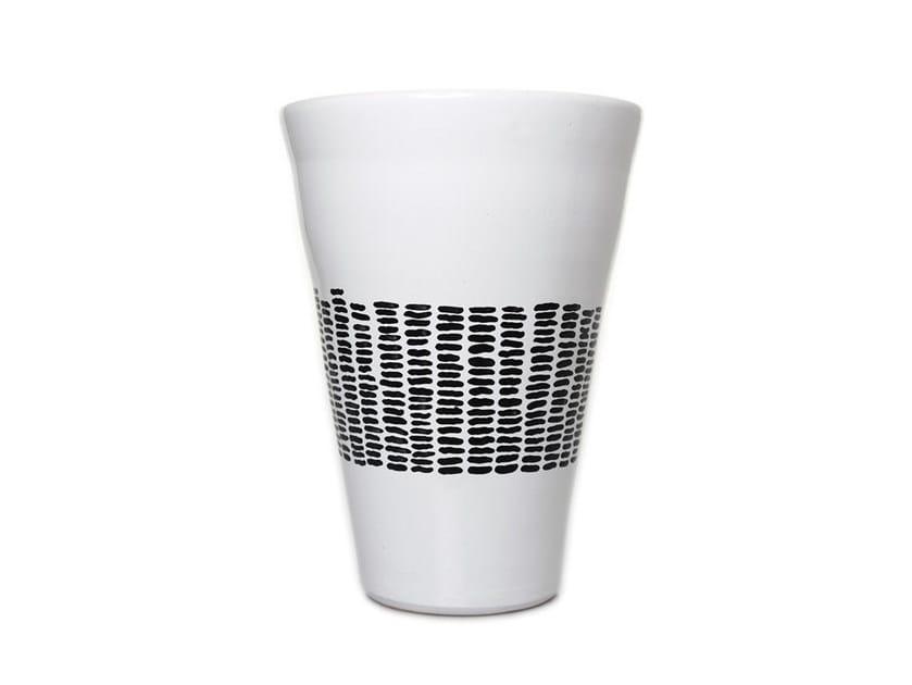 Ceramic vase HORIZONTAL V - Kiasmo