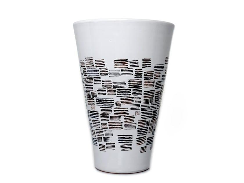 Ceramic vase HORIZONTAL VI - Kiasmo
