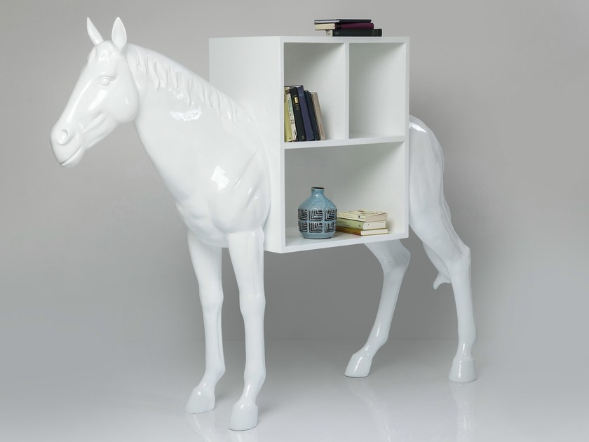 Resin bookcase HORSE | Bookcase - KARE-DESIGN