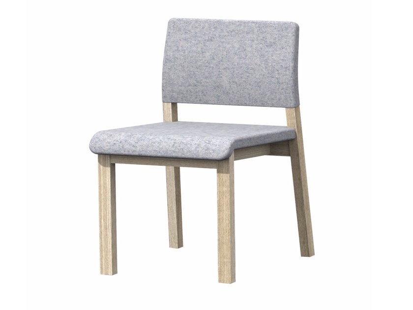 Upholstered fabric chair HOST by Z-Editions