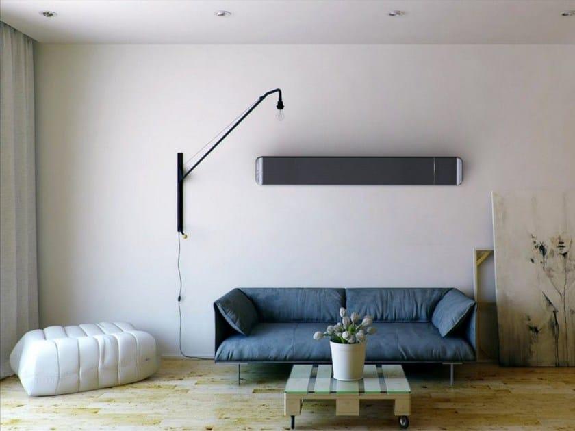 Infrared horizontal aluminium decorative radiator HOT-TOP - Mo-el