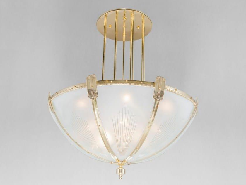 Lampada a sospensione a luce diretta fatta a mano in ottone HOTEL I | Lampada a sospensione - Patinas Lighting