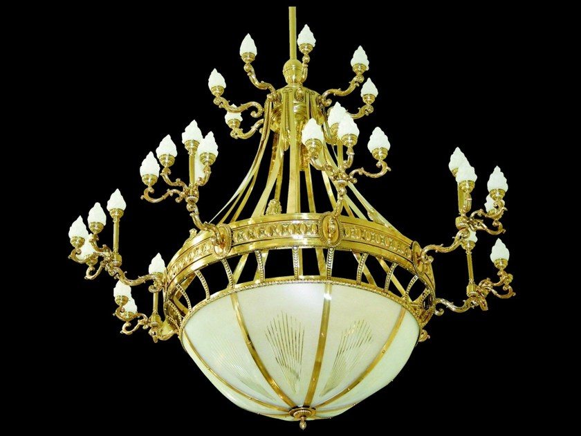 Direct light handmade brass pendant lamp HOTEL II   Pendant lamp - Patinas Lighting
