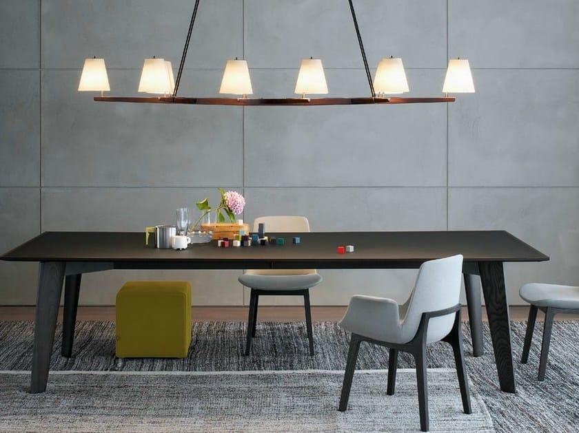 Rectangular wooden table HOWARD | Table - Poliform