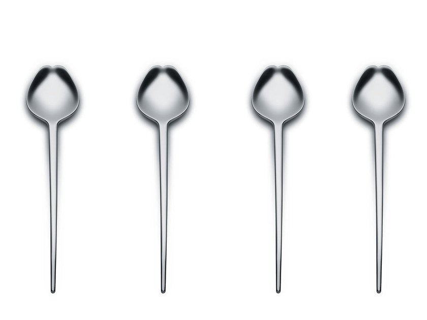 Stainless steel cutlery set HUMAN | Cutlery set - ALESSI