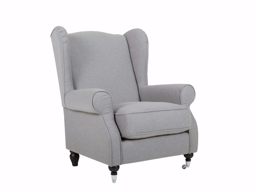 Fabric wingchair with casters HUMPHREY - SITS