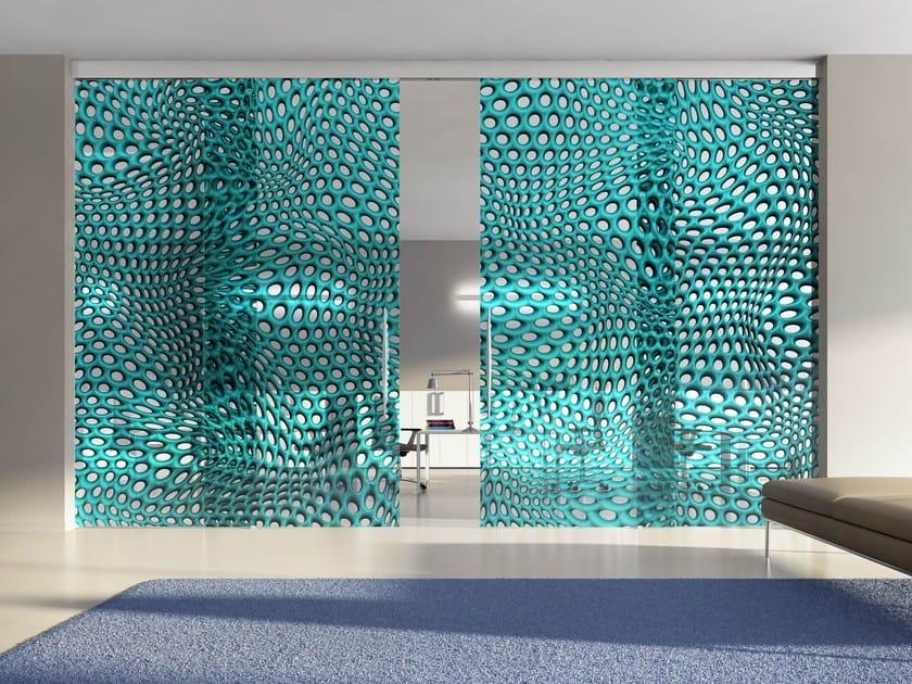 Crystal partition wall HYBRID CIRCLE BAYBLUE - Casali