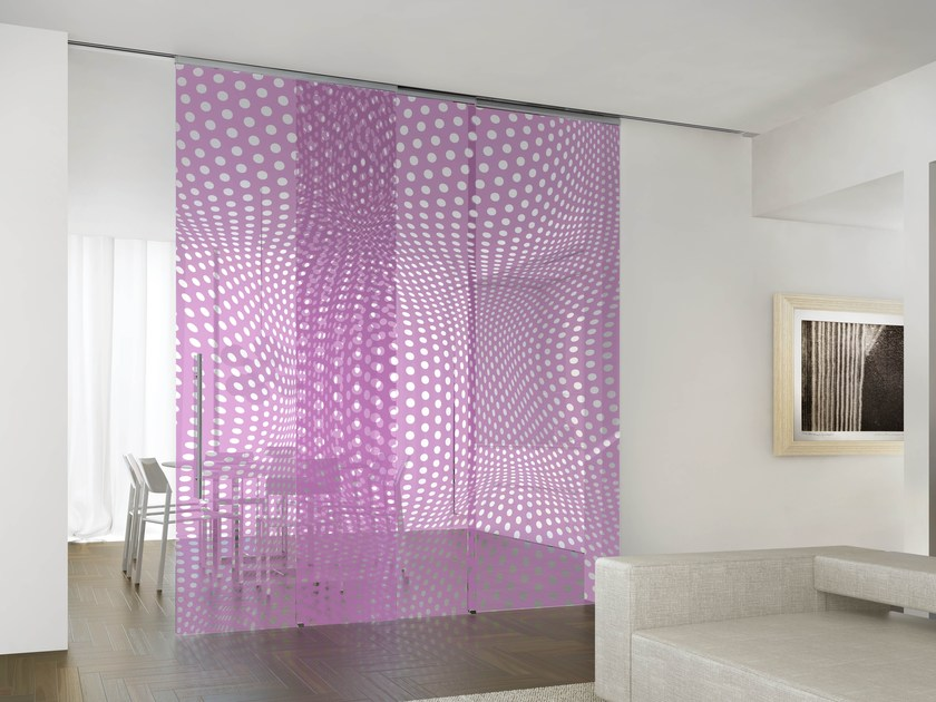 Crystal partition wall HYBRID DOTS GRAPE by Casali